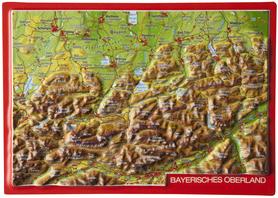 OBERLAND BAWARSKI pocztówka reliefowa GEORELIEF