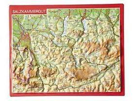 SALZKAMMERGUT pocztówka reliefowa GEORELIEF