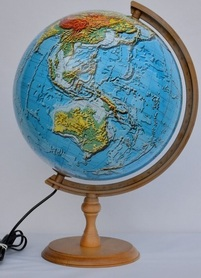 Globus 320 fizyczny 3D podświetlany GŁOWALA 2434