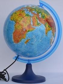 Globus 250 fizyczny podświetlany GŁOWALA 1819