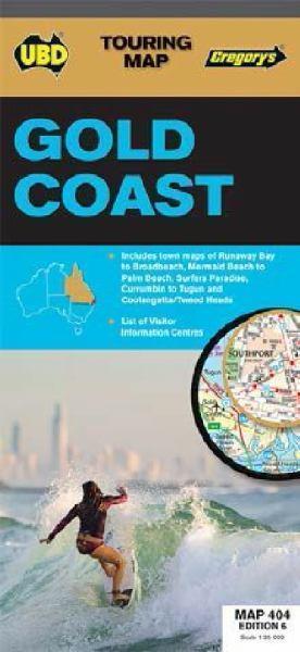 404 GOLD COAST Australia mapa turystyczna UBD
