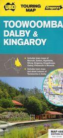TOOWOOMBA DALBY (PD-WSCH QUEENSLAND) Australia mapa turystyczna UBD