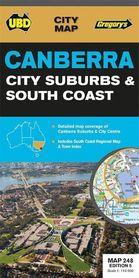 CANBERRA plan miasta i mapa regionu UBD nr248