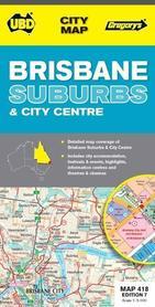 418 BRISBANE SUBURBS Australia plan miasta UBD