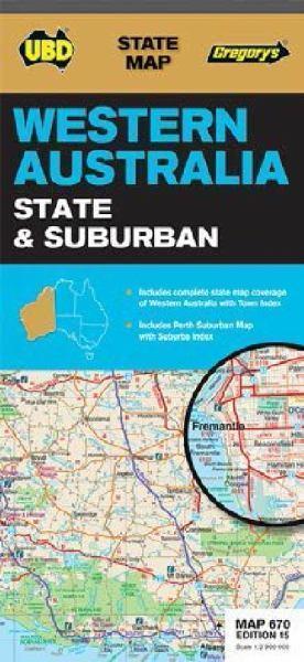 670 ZACHODNIA AUSTRALIA mapa samochodowa UBD