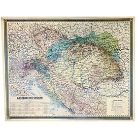 Mapa Austro-Węgry 1867-1918.Oesterreich-Ungarn AUSTERIA