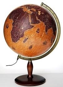 Globus 420mm żaglowce podświetlany GŁOWALA 3134