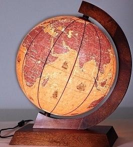 Globus 320mm żaglowce drewniana oprawa GŁOWALA 5435