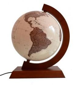 Globus 320mm antyczny drewniana oprawa GŁOWALA 5534