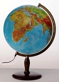 Globus 420mm fizyczny podświetlany GŁOWALA 9013