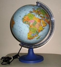 Globus 250 mm polityczny podświetlany GŁOWALA 1918