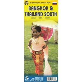 BANGKOK TAJLANDIA POŁUDNIOWA W.2 mapa 1:10 000 / 1:900 000 ITMB