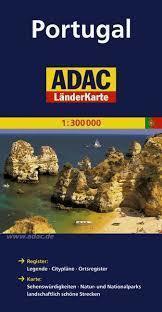 PORTUGALIA mapa samochodowa 1:300 000 ADAC