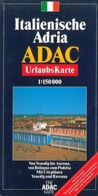 WŁOCHY WYBRZEŻE MORZE ADRIATYCKIE mapa samochodowa 1:150 000 ADAC