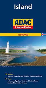 ISLANDIA mapa samochodowa 1:600 000 ADAC