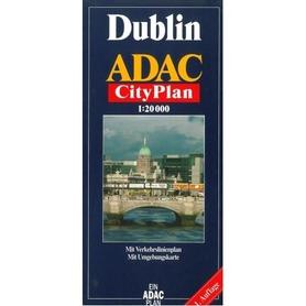 DUBLIN plan miasta 1:20 000 ADAC