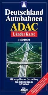 NIEMCY AUTOSTRADY mapa samochodowa 1:500 000 ADAC