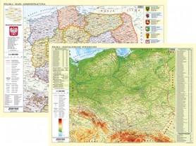 POLSKA fizyczno-administracyjna mapa ścienna 1:1 000 000 EKO-GRAF 2020