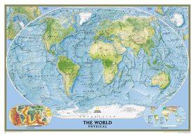 ŚWIAT mapa ścienna fizyczna 1:24 031 000 NATIONAL GEOGRAPHIC