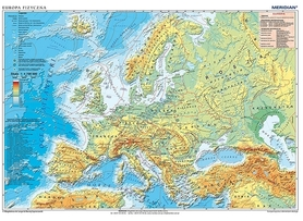 EUROPA mapa ścienna polityczna / fizyczna 1:4 700 000 MERIDIAN