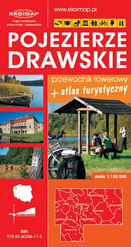 POJEZIERZE DRAWSKIE przewodnik rowerowy i atlas turystyczny 1:120 000 EKOMAP + MAPA GRATIS