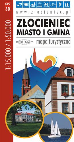 ZŁOCIENIEC mapa turystyczna 1:15 000 / 1:50 000 EKOMAP 2015