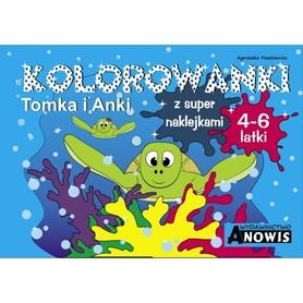 KOLOROWANKI TOMKA I ANKI 4-6 latki - ANOWIS