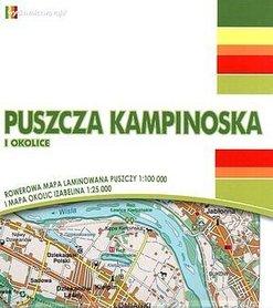 PUSZCZA KAMPINOSKA I OKOLICE mapa rowerowa laminowana 1:100 000/1:25 000 RAJD