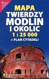 MAPA TWIERDZY MODLIN I OKOLIC + Plan Cytadeli  1:25 000 RAJD