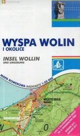 WYSPA WOLIN I OKOLICE mapa rowerowa papierowa 1:50 000 RAJD