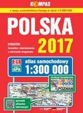 POLSKA atlas samochodowy 1:300 000 PWN 2017 !!!
