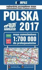 POLSKA mapa samochodowa dla profesionalistów 1:700 000 PWN 2017
