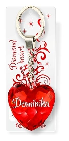 Brelok Serce Diamentowe - Dominika