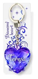 Brelok Serce Diamentowe - Teresa
