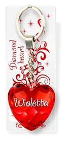 Brelok Serce Diamentowe - Wioletta