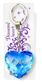 Brelok Serce Diamentowe - Zuzanna