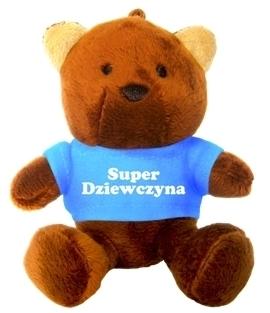 BRELOK MIŚ - SUPER DZIEWCZYNA