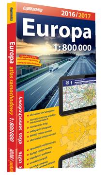 EUROPA ATLAS SAMOCHODOWY 1:800 000 2016/2017 EXPRESSMAP
