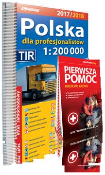 POLSKA DLA PROFESJONALISTÓW ATLAS SAMOCHODOWY 1:200 000 + PIERWSZA POMOC 2017/2018 EXPRESSMAP
