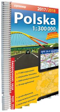 POLSKA atlas samochodowy 1:300 000 2016/2017 EXPRESSMAP