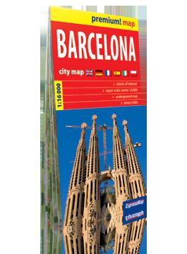BARCELONA plan miasta w kartonowej okładce 1:16 000 wer. ang  EXPRESSMAP