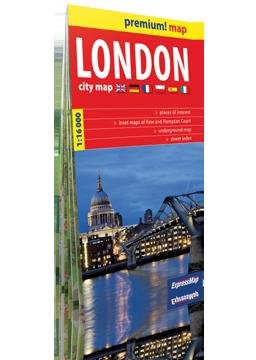 LONDYN LONDON plan miasta w kartonowej okładce 1:16 000 wer. ang EXPRESSMAP