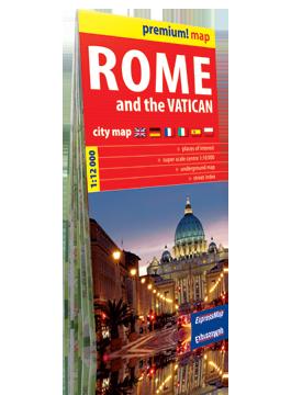 Rzym i Watykan plan miasta w kartonowej okładce 1:12 000 wer. ang EXPRESSMAP