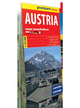 AUSTRIA mapa samochodowa w kartonowej okładce 1:475 000 EXPRESSMAP