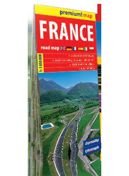 FRANCJA mapa samochodowa w kartonowej okładce 1:1 050 000 wer. ang EXPRESSMAP