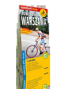 Rowerowa Warszawa laminowany rowerowy plan miasta 1:29 000 EXPRESSMAP