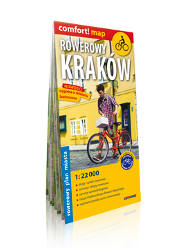Rowerowy Kraków laminowany rowerowy plan miasta 1:22 000 EXPRESSMAP