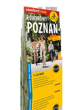 Rowerowy Poznań laminowany rowerowy plan miasta 1:22 000 EXPRESSMAP