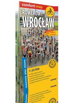 Rowerowy Wrocław laminowany rowerowy plan miasta 1:22 500 EXPRESSMAP