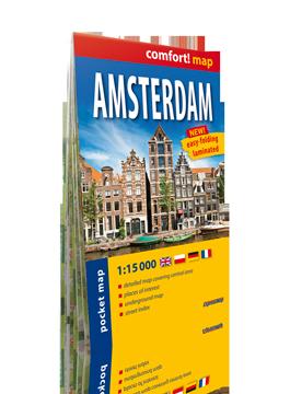 AMSTERDAM KIESZONKOWY laminowany plan miasta 1:15 000 wersja angielska EXPRESSMAP